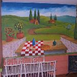 Mural inside the restaurant