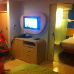 Junior suite: LCD TV at the living room, nice space for family traveler