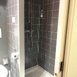 Spacious, clean and new shower.