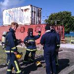 Very real fire fighting training for STCW95