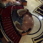 Looking down at the lobby