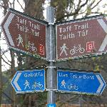 River Taff のビュートパーク付近のTrail 標識