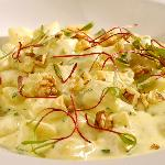 Our famous gnocchi with gorgonzola and walnut cream