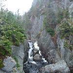 waterfall near the bay