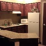 Kitchen area from bedroom door