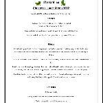 christmas menu 2012