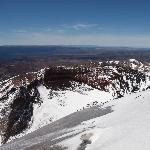 This the crater at the top where Tongariro blew its top 5000 years ago.