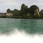 From the boat arriving at Krabi