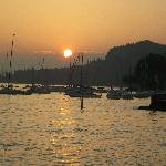 Lovely sunset over Lake Garda.