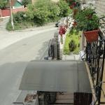Balcony overlooking front street