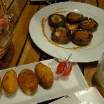 Mushroom and croquettes