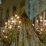 Cadiz procession outside the restaurant