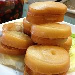 Deep-Fry Mantou, served with condensed milk. Great for dessert.