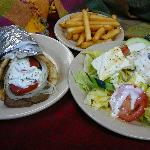 Gyro Pita & Greek Salad