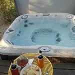 The Casita's hot tub