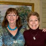 Sally (on left) with my wife, Anne