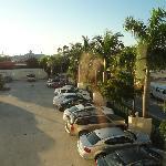 2nd floor room view of parking lot