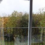 View overlooking balcony from garden room
