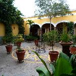 The courtyard at the Casa de los Patios