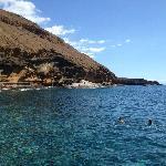 Gorgeous rock cones Costa del Silencio Bay area at close vicinity of hotel