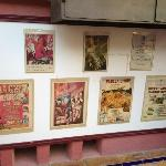 Posters of all the entertainment shows taking place every night at the hotel