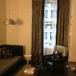 living area, large sofa, could sleep 1