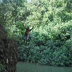 Secret Cliff Dive into the River
