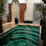 plunge pool in Riad Shambala