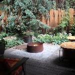 Outdoor Fire Pit and Private Patio