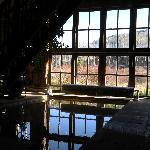 From inside Bath-house