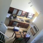 Blick runter zur Küche