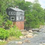 View of the River House from the Rocky Broad River