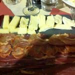 assiette de charcuterie et fromage