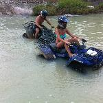 Stuck in the river on the 3 hour ATV excursion