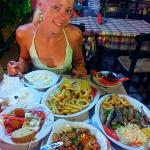 Adreas seafood and Greek food is the Best in Parga..