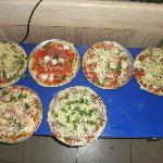 Pizza's we made