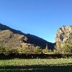 Inca Temple and Mt Pinkuylluna