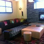 Bar/lounge area - beautiful colors, materials!