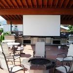 Big Screen Outside. Perfect for movies or meetings