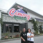 in front of Cimory Riverside