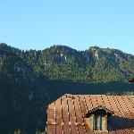 The Ammergau Alps from our balcony