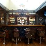 Saloon bar with cool horse saddle seats