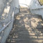 Steep walkway up and down to the fort