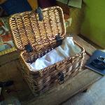 Surprise! Breakfast hamper time!