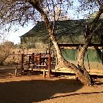 Safari Tents on the fenceline at Crocodile Bridge-Kruger