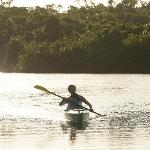 Kayaking on the fresh water lagoon - kayak equipment is included