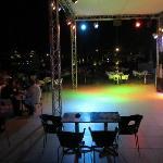 Tanzfläche Poolbar am Abend