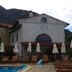 View of main building from pool area