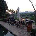 Sunset on the Pool Patio overlooking the River