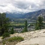 View of Banff atop Tunnel Mountain